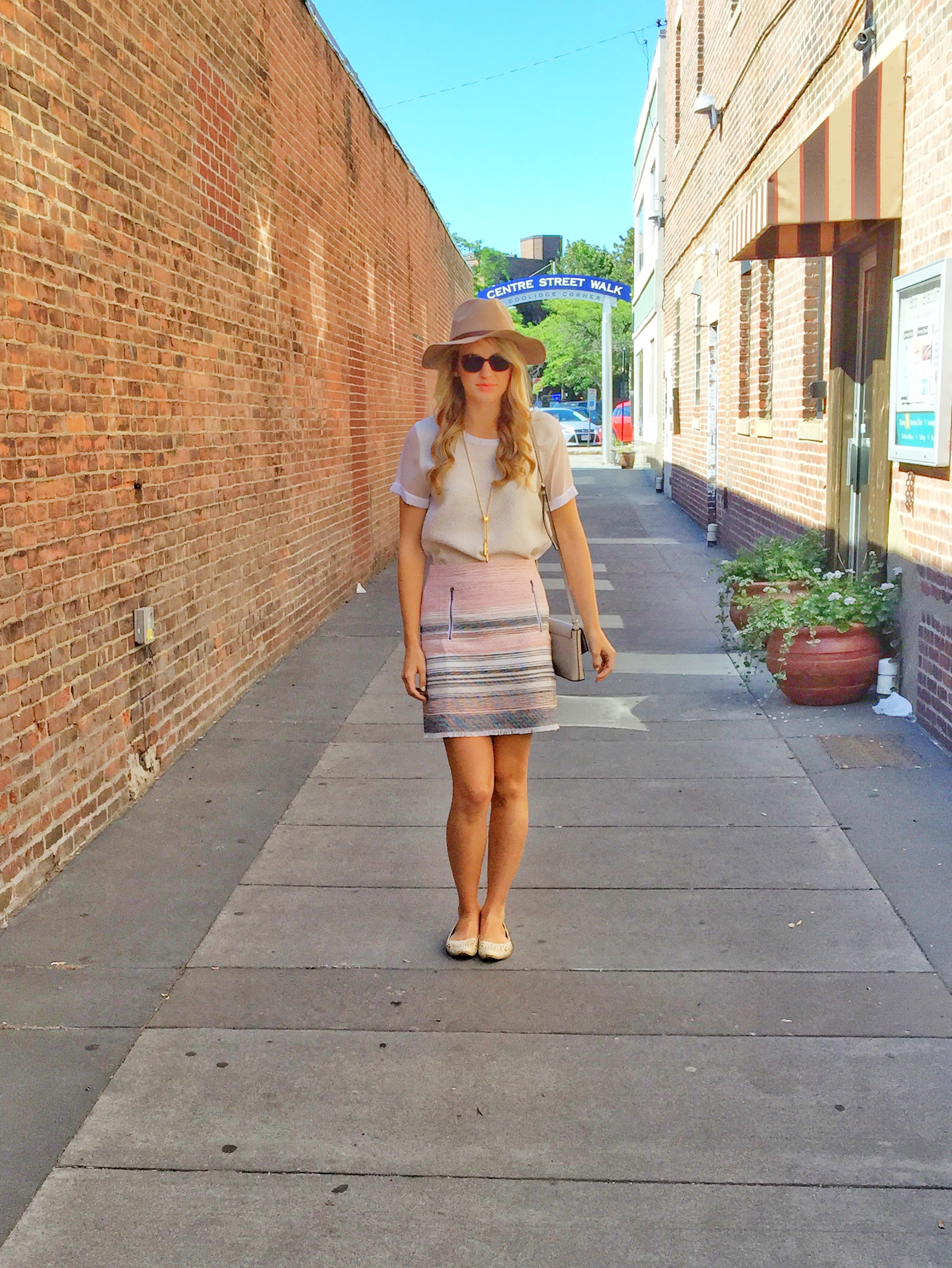 3733f9f8e1a31 This tweed Loft skirt is another great summer-to-fall transitional piece.  With the light color scheme and the cool weather appropriate tweed