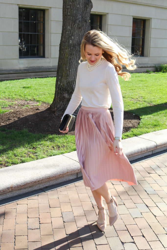 2019 professional reasonable price agreatvarietyofmodels The Lilac Press   Dusty Rose Pleated Skirt
