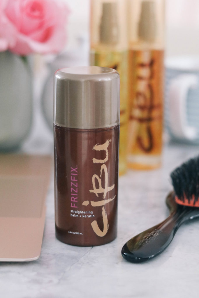 Style + beauty blogger Leigha Gardner of The Lilac Press sharing favorite hair product for healthy hair with Cibu by Hair Cuttery