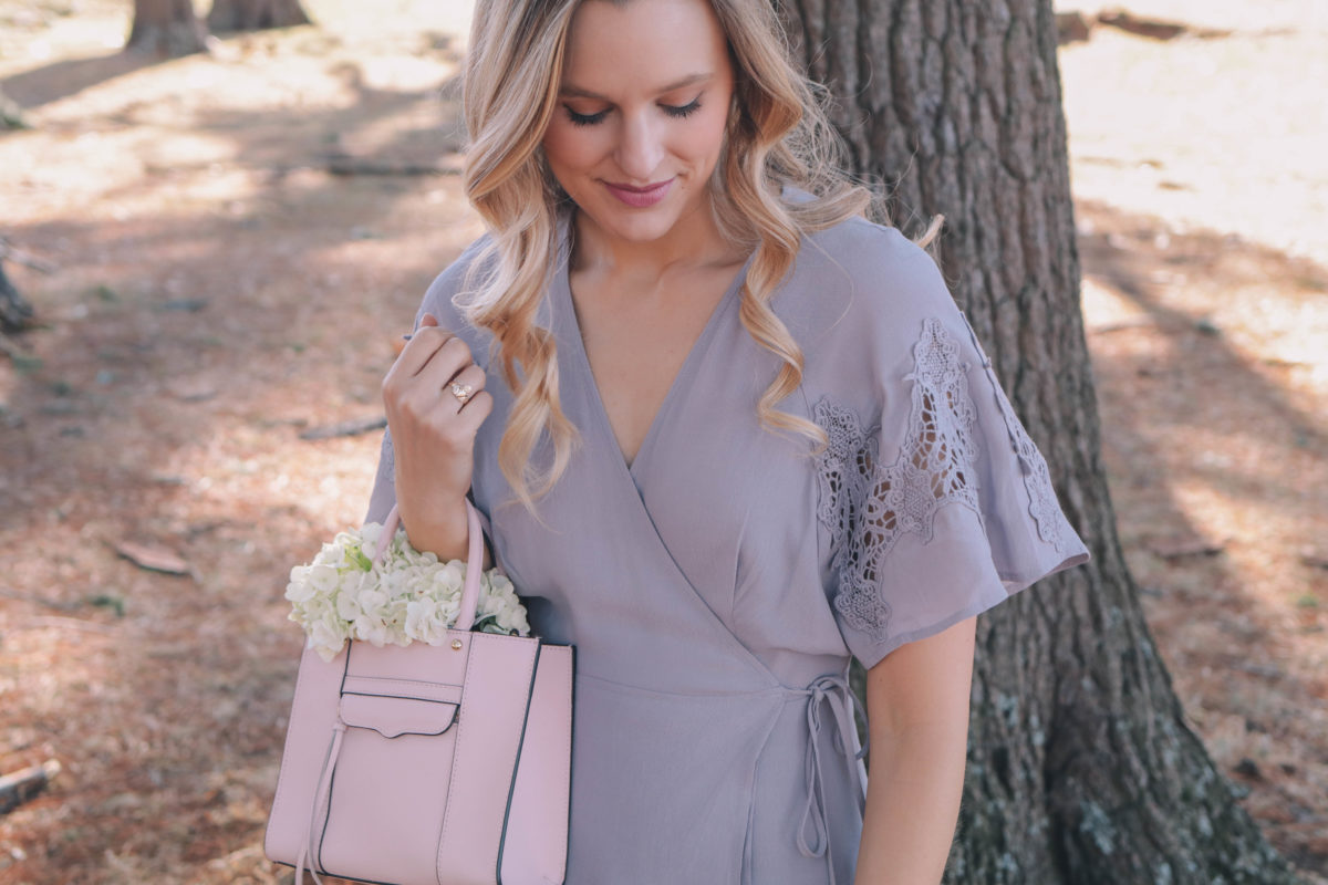Style blogger, Leigha Gardner, of The Lilac Press wearing a dusty lavender spring dress for $75, while exploring in the Berkshires, MA.