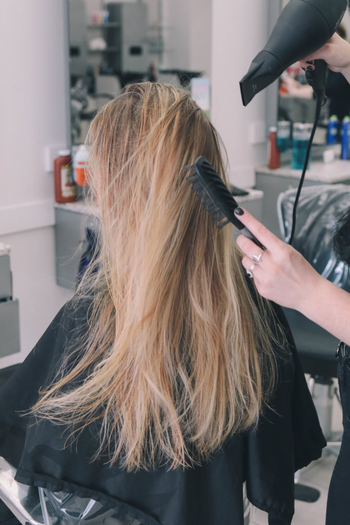 Beauty blogger, Leigha Gardner, of The Lilac Press visiting the local Hair Cuttery salon for a trim and a blow out; sharing trips and favorite products from Redken