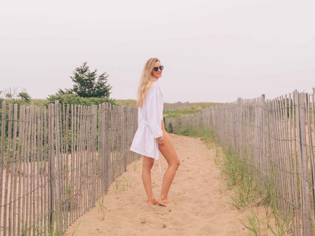 Style and beauty blogger, Leigha Gardner, of The Lilac Press, on beach bag essentials in New England.