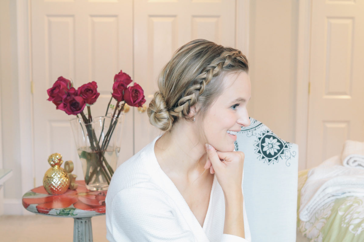 Beauty blogger Leigha Gardner, of The Lilac Press, sharing a video tutorial with 3 ways to style air dried hair.